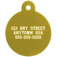 Large Circle Pet ID Tag