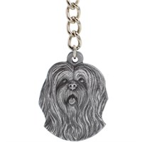 "Dog Breed Keychain USA Pewter - Lhasa Apso (2.5"")"