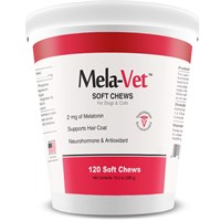 Mela-Vet Melatonin Soft Chews for Dogs & Cats (120 count)