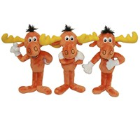 Multipet Bullwinkle Plush Dog Toy 12""