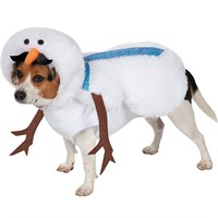 Casual Canine Mustache Snowman Dog Costume - XSmall