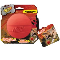 Nerf Dog Squeak Ball - Red