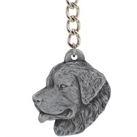 "Dog Breed Keychain USA Pewter - Newfoundland (2.5"")"