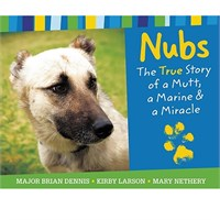 "Nubs, an Iraqi dog of war book, never had a home or a person of his own. He was the leader of a pack of wild dogs living off the land and barely surviving. But Nubs's life changed when he met Marine Major Brian Dennis. The two formed a fast friendship, made stronger by Dennis's willingness to share his meals, offer a warm place to sleep, and give Nubs the kind of care and attention he had never received before. Nubs became part of Dennis's human ""pack"" until duty required the Marines to relocate a full 70 miles away--without him. Nubs had no way of knowing that Marines were not allowed to have pets. So began an incredible journey that would take Nubs through a freezing desert, filled with danger to find his friend and would lead Dennis on a"
