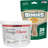 Omega Chews™ for Small to Medium Sized Dogs & Cats (150 Soft Chews)