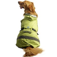 One For Pets Safety Hooded Dog Raincoat - Spring 26""