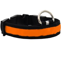 LED Safety Electric Glow Collar - Orange (Large)