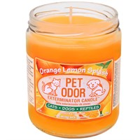 Pet Odor Exterminator Candle - Orange Lemon Splash Jar (13 oz)
