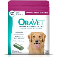 OraVet Dental Hygiene Chews - Large Over 50 lbs (30 Count)