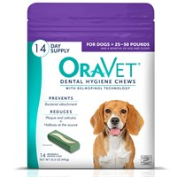 OraVet Dental Hygiene Chews - Medium 25-50lbs (14 Count)