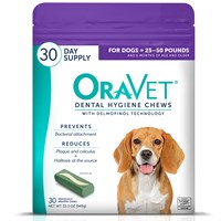 OraVet Dental Hygiene Chews - Medium 25-50 lbs (30 Count)