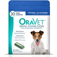 OraVet Dental Hygiene Chews -Small 10-24lbs (30 Count)