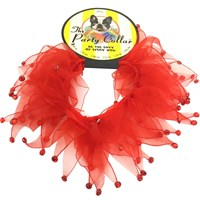 "holiday party collar - red rhinestones - large (14"") on lovemypets.com"