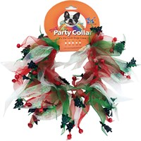 "holiday party collar - xmas tree - medium (12"") on lovemypets.com"