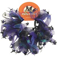 "Halloween Party Collar - Cats & Witch - XSmall (8"")"