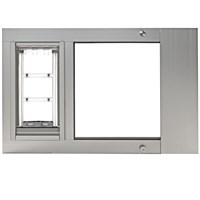 "Patio Pacific Thermo Sash 3e Satin Cat Door - Small (37""-40"")"