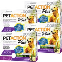 PetAction Plus Flea & Tick Treatment for Large Dogs 25-88 lbs - 12 MONTH