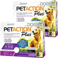 PetAction Plus Flea & Tick Treatment for Large Dogs 25-88 lbs - 6 MONTH