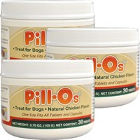 NEW Pill-Os Tasty Pilling Treats Chicken SMALL 3-PACK (90 Count)