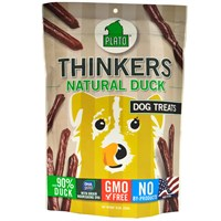 Plato Thinkers Natural Duck Sticks Dog Treats (10 oz)