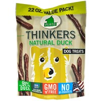 Plato Thinkers Natural Duck Sticks Dog Treats (22 oz)