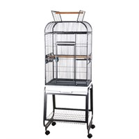"""Image of Play Top Bird Cage with Plastic Base - Black (22""""x17""""x66"""")"""