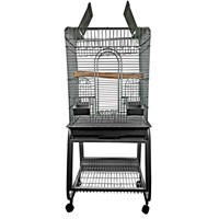 """Image of Play Top Bird Cage with Removable Stand - Black (22""""x18""""x62"""")"""