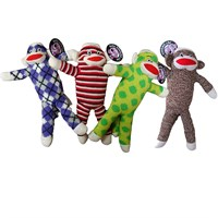 Pet Qwerks Plush Sock Monkey Toy