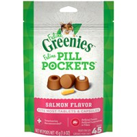 Pill Pockets for Cats SALMON 1.6 oz (45 pockets) Best Price