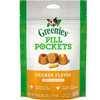 Pill Pockets LARGE Dog 7.9 oz (30 Chicken pockets)