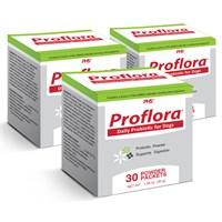 3-PACK Proflora Probiotic for Dogs (90 Servings)