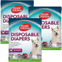 Image of 3 PACK Simple Solution Diapers XXL (36 Diapers)