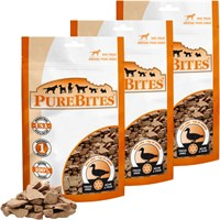 PureBites Duck Liver Freeze-Dried Treats for Dogs - 3 PACK (7.8 oz)