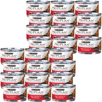 Image of Purina Pro Plan - Beef, Carrots & Rice Entree in Gravy Canned Adult Cat Food (24x3 oz)