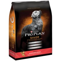 Purina Pro Plan Savor - Shredded Blend Beef & Rice Dry Adult Dog Food (18 lb)