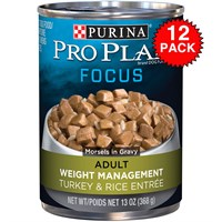 Purina Pro Plan Focus - Turkey & Rice Entre Canned Weight Management Adult Dog Food (12x13oz)