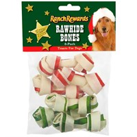 Ranch Rewards® Holiday Rawhide Bones - 2In (6 Pack)
