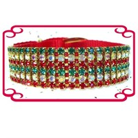 Rhinestone Dog Collars - Christmas Magic (Small)