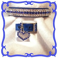 Dog Suppliesapparelcollars Leashes & Harnessesrhinestone Dog Collars Royal Blue Velvet