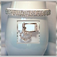 Rhinestone Dog Collars - Snow White Velvet # 298 - (XSmall)