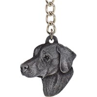 "Dog Breed Keychain USA Pewter - Rhodesian Ridgeback (2.5"")"