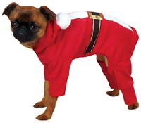 Casual Canine Santa Pajama Large Red