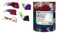 Savvy Tabby Furry Mice (84 pieces)