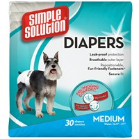 Dog Suppliescleaning & Sanitationdiaperssimple Solution Disposable And Washable Diapers