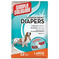 Simple Solution Fashion Print Diapers - Large (12 count)