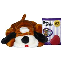 Anxiety Guaranteed Solution - Snuggle Puppy - Brown & White