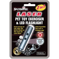 SpotBrites 2 in 1 Laser/LED Pet Toy Exerciser & Flashlight