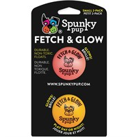 Spunky Pup Fetch & Glow Ball - Small (2 pack)