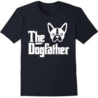 Women's T-Shirt - The Dogfather - Small (Black)