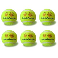 "6-PACK EntirelyPets Tuff Balls Tennis Ball (2.5"")"